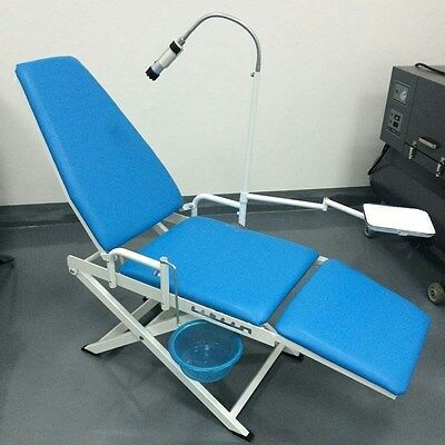 Portable Folding Dental Chair w/ Cuspidor Tray Operation Light Mobile Equipment