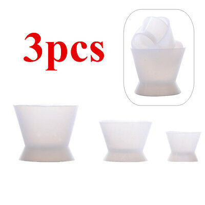3PCS Dental Flexible Lab# Silicone Mixing Cup Acrylic NonStick Bowl Dappen Sale