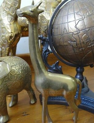 Mid Century Vintage BRASS Giraffe - 24cm Hollywood Regency