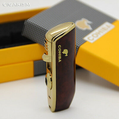 COHIBA Red Wood Snake Mouth Shape Metal Torch Jet Flame Cigarette Cigar Lighter