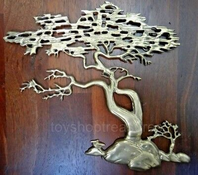 Vintage BRASS TREE of LIFE Pebble Beach - Hollywood Regency Brass Wall Sculpture