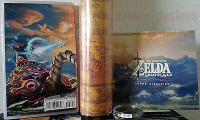 Zelda Breath of the Wild +CD+Sheikah Eye Coin+Map Nintendo Switch Master Edition