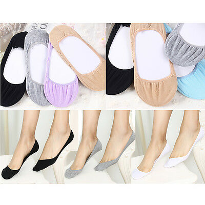 Wholesale Lot 7 Pairs Women Ladies Solid Footsies Shoe Invisible Trainer Socks