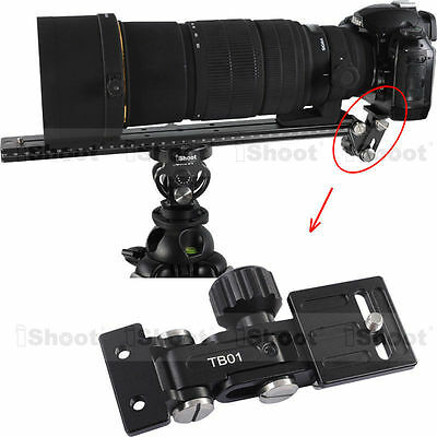 Telephoto Lens Bracket Support Holder IS-TB01 for Camera QR Tripod Mount Ring