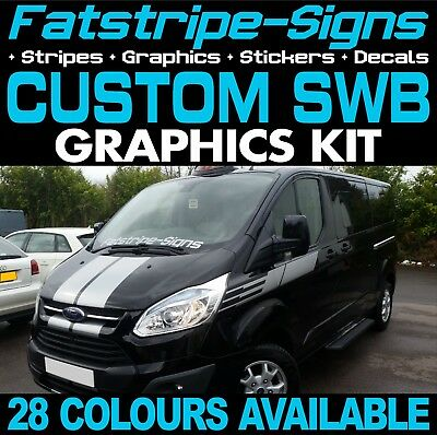 Ford Transit Custom Swb Graphics Stickers Stripes Decals St M Sport Day Van #4