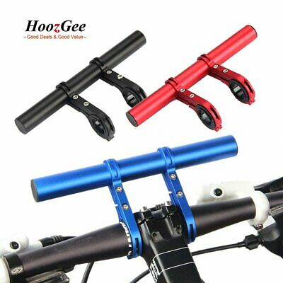 Bike Bicycle Handlebar Extension Mount Cycling Front Light Torch Horn Holder New