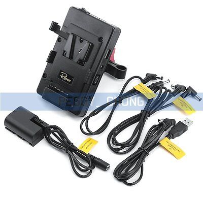 ROLUX RL-VFU2 V-Mount Battery Power Supply Plate BMCC Supply System For Canon 5D