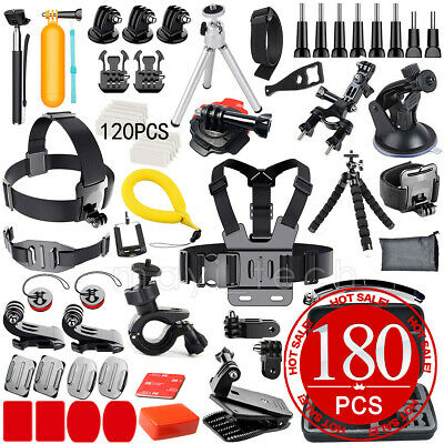 59PCS Pack Accessories Case Head Chest Monopod Surf Mount for GoPro Hero 5 4 3+