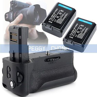 Vertical Battery Grip +2x NP-FW50 Battery For Sony A7II A7RII as Sony VG-C2EM【US