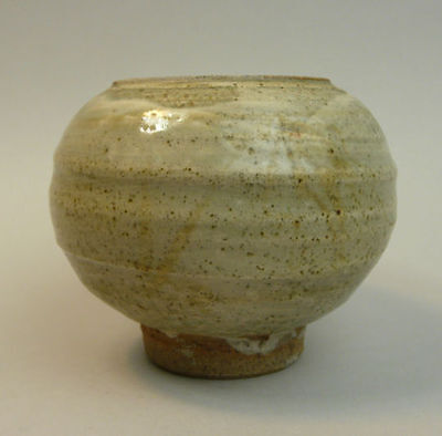 Jim Malone Green/grey Ash Glaze Studio Pottery (Seal Mark)