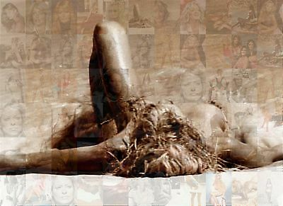 FARRAH FAWCETT 2014 photo mosaic cm. 31x42 poster with a lot of pics
