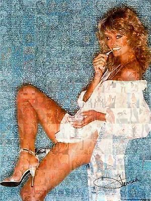 FARRAH FAWCETT 2015 photo mosaic cm. 31x42 poster with a lot of pics C