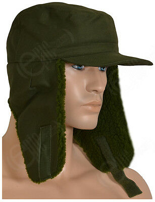 Swedish Cold Weather Hat - Issued Military Army Surplus Cap Winter Ear Flaps