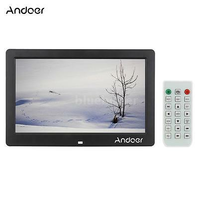 """10.1"""" TFT-LCD HD Digital Photo Frame Picture Clock Movie Player + Remote Control"""