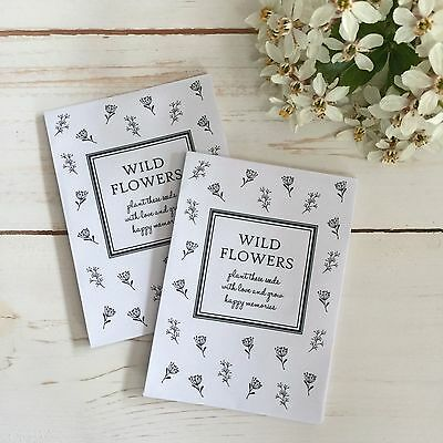 10 Filled Wildflower Seed Packet Funeral Favours - Condolence, Memorial