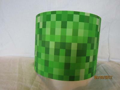 PIXELS CEILING LIGHT LAMP SHADE KIDS ROOM MATCHES MINECRAFT GAME with  FREE GIFT