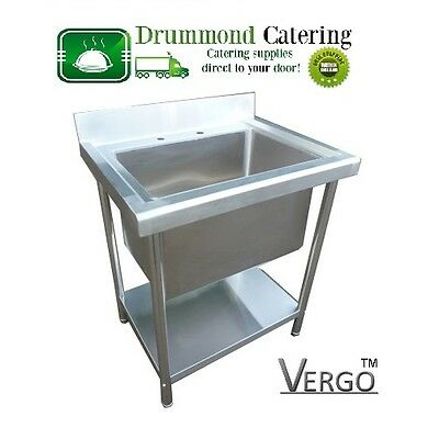 Brand New Commercial Kitchen Sink Single Deep Bowl 780mm