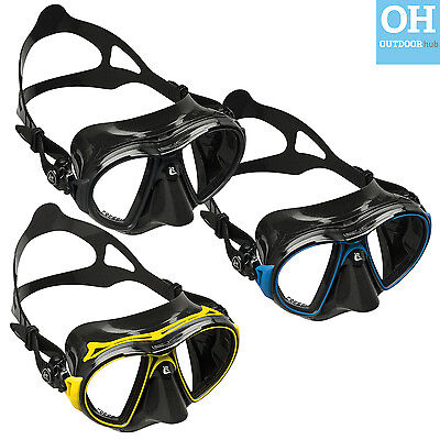 Cressi Air Mark Crystal Sil Black Yellow Lilac Blue Snorkelling Diving Swimming