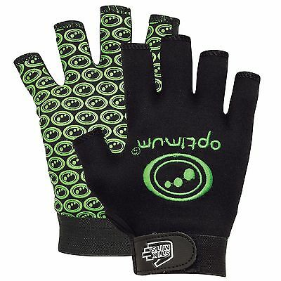 Optimim Stik Mit Tribal Rugby Glove - Black Fluro Green sz small boys