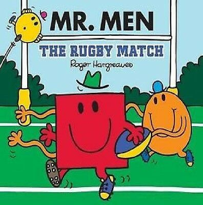 NEW sparkly MR MEN - the RUGBY MATCH (BUY 5 GET 1 FREE book ) Little Miss