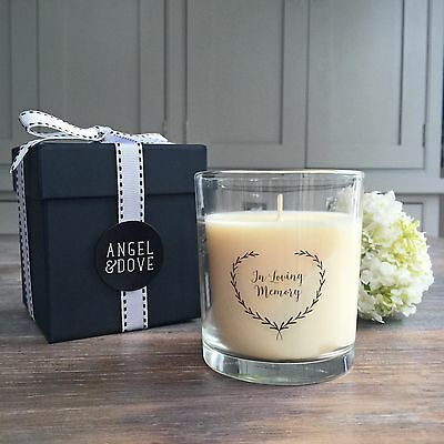 'In Loving Memory' Large Gift Boxed Remembrance Candle - Sympathy Gift, Funeral