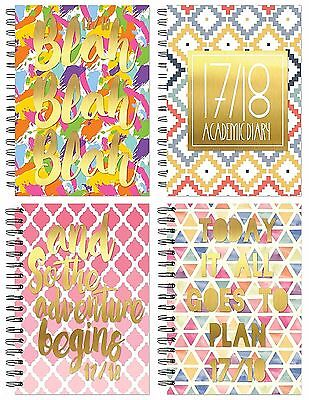 2017 2018 A5 Week to View Academic Diary Mid year Diary Spiral Bound Hardback