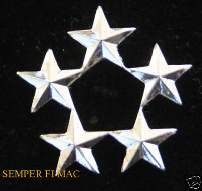 2 Two Regulation Size 5 Five Star General Collar Pin Us Army Air Corps Air Force
