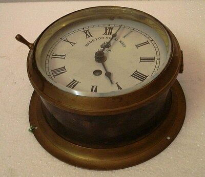 Made for ROYAL NAVY Marine CLOCK - Brass - Mechanical One