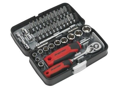 "(#BS)Sealey AK8945 Socket & Bit Set 38pc 1/4""Sq Drive"