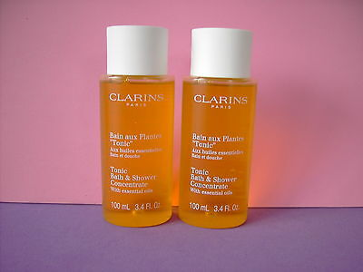 Clarins 200ml Tonic Bath & Shower Concentrate in 2 x 100ml Bottles