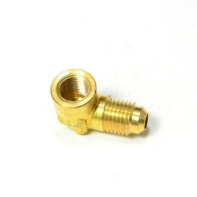 SAE 45 Male Flare Female Pipe Elbow 1/4 Tube OD x 1/8 NPT Female FIP FPT