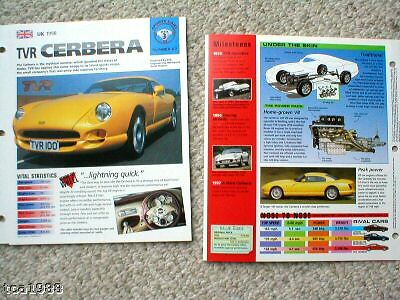 TVR Cars BROCHURES/Road Tests Collection:CERBERA,GRIFF