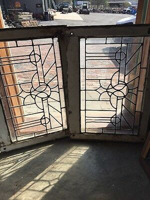 Sg 12272 Available Price Separate Antique Leaded Glass Window 21 X 30.5 Each