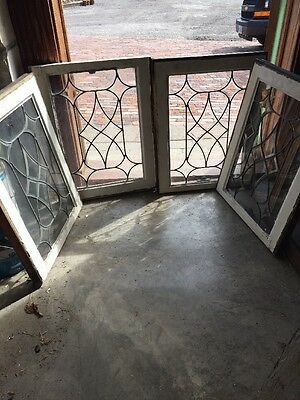 Sg 1230 4 Available Price Separate Antique Four Point Bevel Window 18.5 X 23.5
