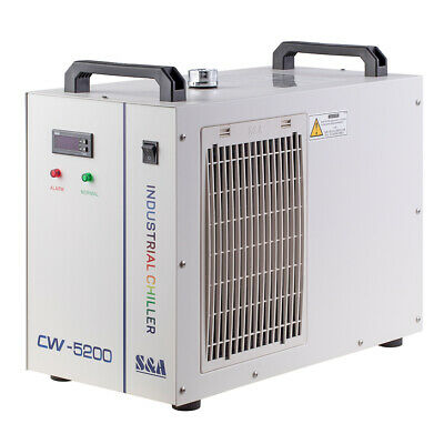 Industry Air Water Chiller S&A CW5200 for Cooling 150W CO2 Laser Tube 220V 110V