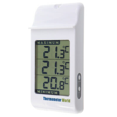 Digital Max Min Thermometer Garden Greenhouse Indoor Outdoor Wall Room - In-024