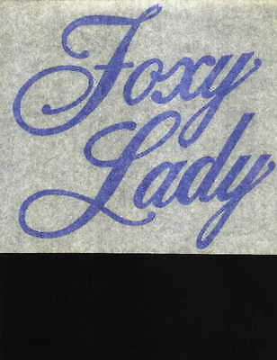 FOXY LADY vintage 70s iron on t shirt transfer full size