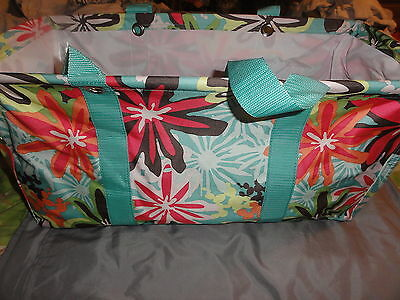 Thirty-One Large Utility Tote Bag Daisy Craze Floral