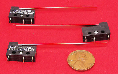 3 Pack Cherry E62 Long Lever MicroSwitch NO NC SPDT 10A 125VAC 250V Snap 10.1A S