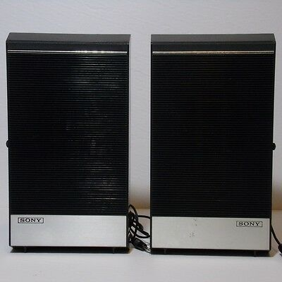 Vintage Sony WALL SPEAKERS SS-12 1.5 watts 8 ohms Works! Used with tape recorder