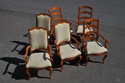 Six Century Furniture Company Ladder Back Arm Chairs