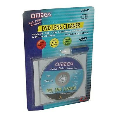 Omega CD VCD DVD Player Lens Laser +Cleaning fluid Head Dirt Cleaner Restore Kit