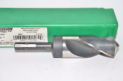 "Precision Twist Drill 1-7/16""  Silver & Deming Drill, 1/2"" Reduced Shank, 3 Flat"