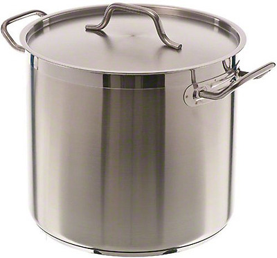 Update International (SPS-16) 16 Qt Induction Ready Stainless Steel Stock Pot w/