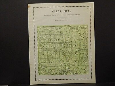Iowa, Keokuk County Map, Clear Creek Township 1912  K8#33