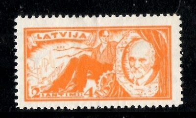 (Ref-9859) Latvia 1930 J.Rainis Memorial Fund 2-4s Orange  SG.176 Mint (Hinged)