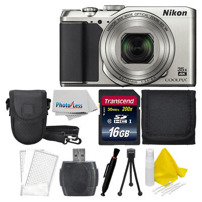 Nikon COOLPIX A900 20MP Digital Camera (Silver) + 16GB Great Value Bundle!