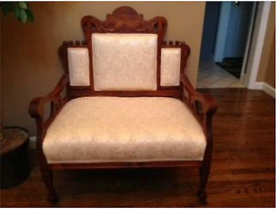 Eastlake Antique Victorian Parlor Seat