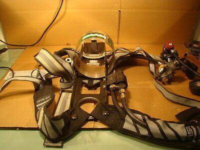 MSA Air Tank Harness and Air Mask Valve and Gauges
