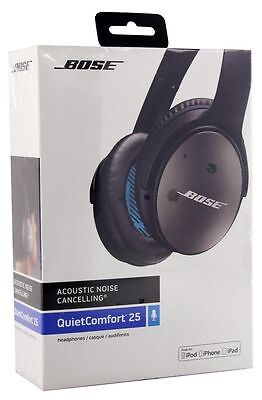 NEW Bose QuietComfort 25 Acoustic Noise Cancelling Headphones for Apple Devices